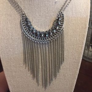 Lucky Brand Silver Fringe Necklace